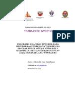 Liz Jorka Nuñez Ramos, Programa de Accion Tutorial, Convivencia y Disciplina (Publicado en Noviem