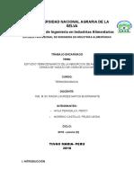 Estudio Termodinamico de La Absorcion de Amoniaco en Ceniza de Vagazo de Caña de Azucar