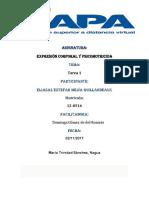 TAREA 1-Expresión Corporal y Psicomotricida