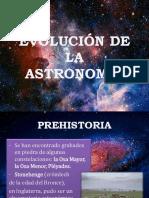 Evolución de La astronomía