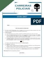 Simulados Carreiras Policiais Simulado 15-01-2017 Comentado