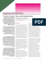 Renal Autotransplantation