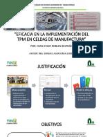 Eficacia en La Implementación Del Tpm en Celdas de Manufactura Expo