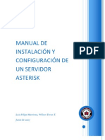 Manual de Instalacion y Configuracion de Un Servidor Asterisk