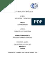 Cuestionario de La Unidad III Electrodinámica