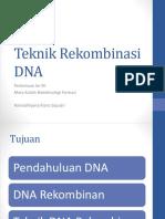 DNA Rekombinan, DNA Rekombinan Di Bidang Farmasi