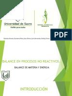 Exposicion Balance- Sistemas No Reactivos