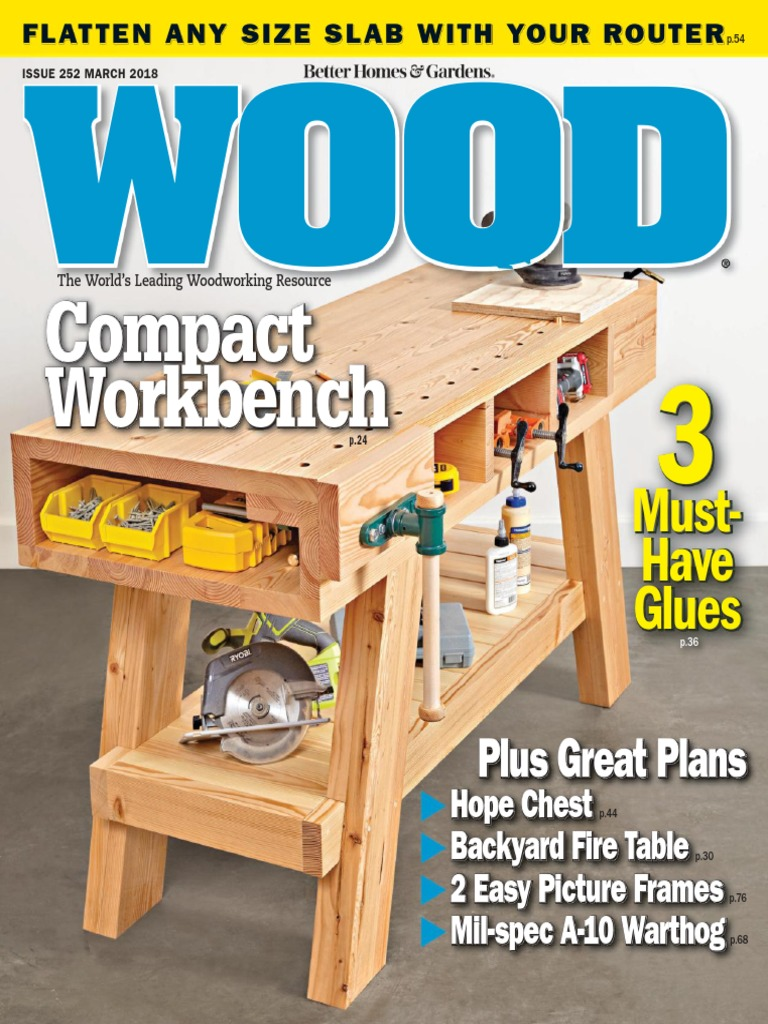 Wood magazine issue 252 march 2018 nature greentooth Images