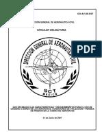 81 Circular Obligatoria CO AV-09.5 07 Que Establece Las Caracteristicas y Requerimientos Para El Uso de Oxigeno a Bordo
