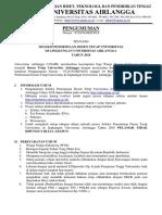 Seleksi Dosen Tetap Universitas Airlangga 2018