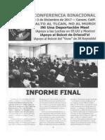 Informe Final I Conferencia Binacional Mex-Usa