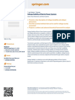 Flyer Voltage Stability of Electric Power Systems