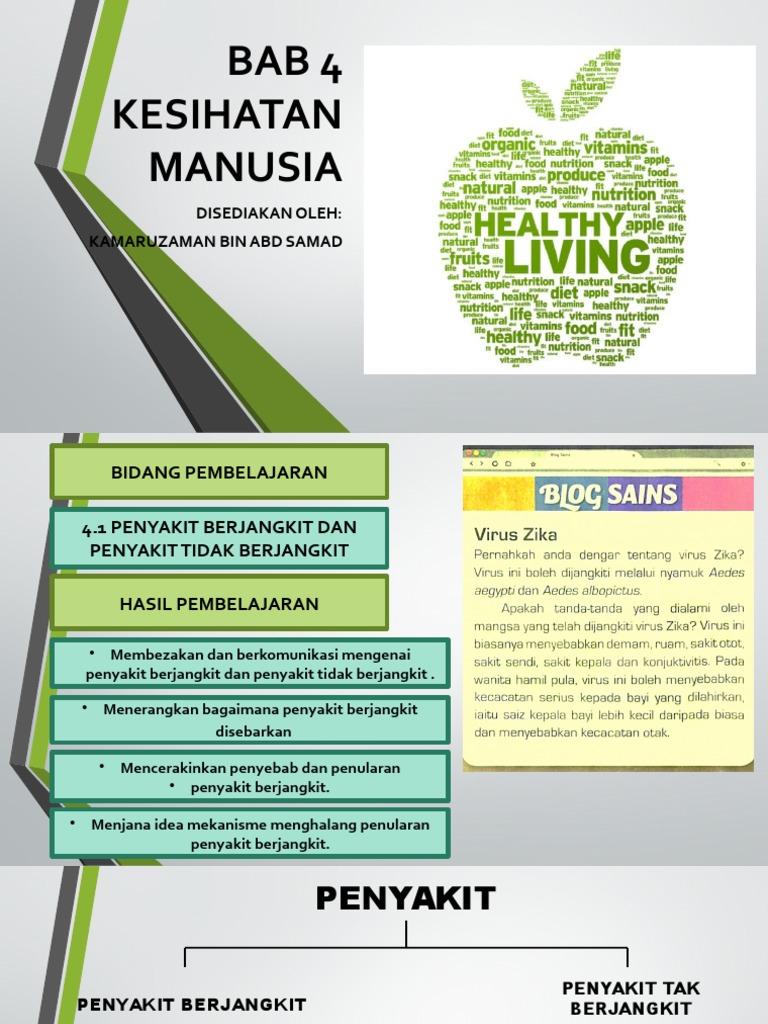 Bab 4 Kesihatan Manusia