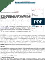 Factores asociados a la deserción:retención de los estudiantes mapuche de la Universidad de la Front