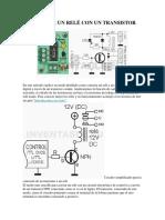 Controlar Un Relé Con Un Transistor