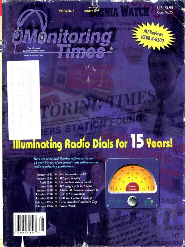 Monitoring Times 1997 01 Television Transmitter Uniden Bearcat 880 Mic Wiring Free Download Diagram Schematic