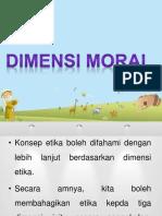 Dimensi Moral-perasaan Moral