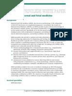 White Paper Maternal & Fetal