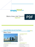 August 2010 Metro Area Job Trends Report