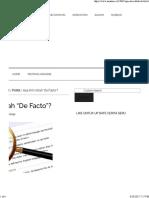 Apa Arti Istilah _De Facto
