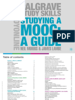 Studying a MOOC Neil Morris James Lambe