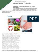 Hígado Graso Alimentos, Dietas y Remedios Naturales