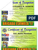 Cert of Recognition Speakership