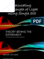 Single Slit Diffraction Experiment