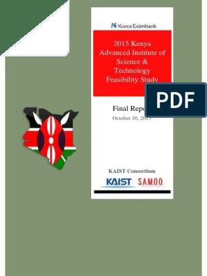 Final Feasibility Study Report KAIST | Feasibility Study | Kenya