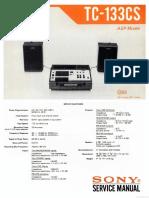 Hfe Sony Tc-133cs Service English