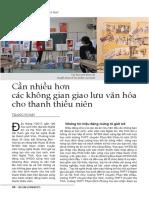 """NYDO Vietnam Media - """"Cần nhiều hơn các không gian giao lưu văn hóa cho thanh thiếu niên"""" NYDO Việt Nam,  tạp chí Văn hóa Nghệ An"""