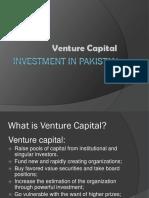 Venture  Capital Investment in Pakistan