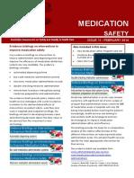 Australia Medication Safety Update 11 February 2014