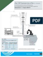 Minimum Approach Distances 110kV Lines on Poles