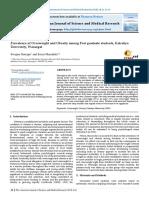 Prevalence of Overweight and Obesity among Post graduate students, Kakatiya University, Warangal