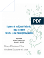 Finnish education system Past Present and Future_RO.pdf