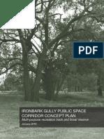 Ironbark Gully Public Space Corridor Concept Plan - January 2018