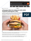 ¿Cómo ganan dinero las cadenas vendiendo hamburguesas a US$1_ _ Tele 13