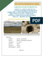 Estudio de Agrologia Canal Molina-tucuppampa