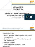 Cable Franchise Media Briefing