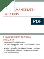 Hasil Amandemen Uud 1945