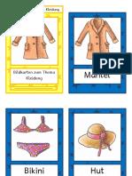 Flashcards Kleidung