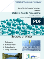 Water in Wet Processing Technology