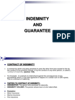 Indemnity and Guarantee Bba