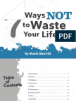 7 Ways Not to Waste Your Life v2 Compressed