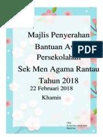 2018 Majlis Penyerahan Bantuan Awal Persekolahan