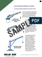 Vessel Pedestal Crane Student Manual