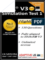 Free CCBA Simulation Questions Set 01