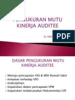 4.Pengukuran Mutu Kinerja Auditee
