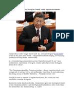 Xi Resorts to Nationalism